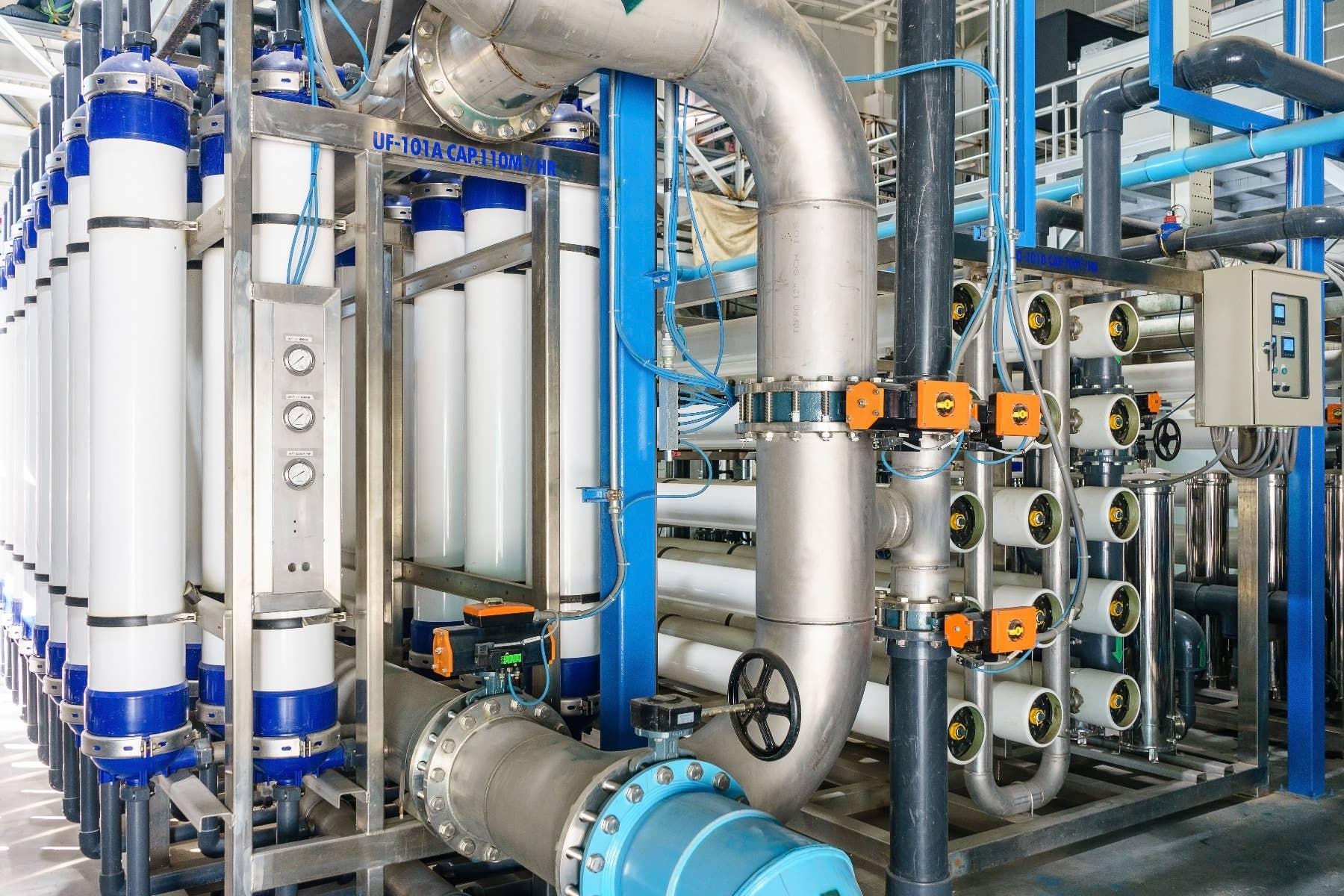 Umkehrosmoseanlage für eine Trinkwasseranlage.